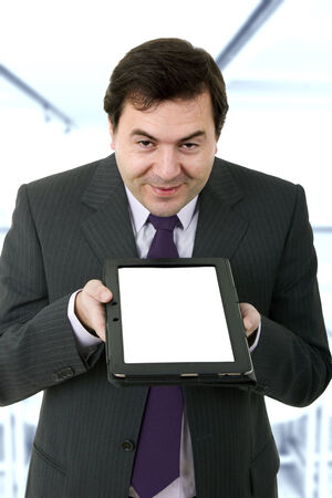Businessman using a tablet pc in the office