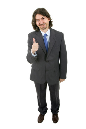 business man portrait on a white