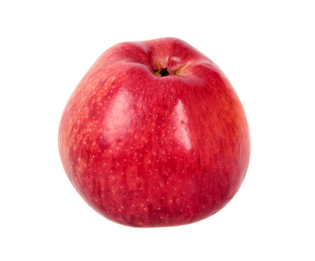 Red apple isolated over white