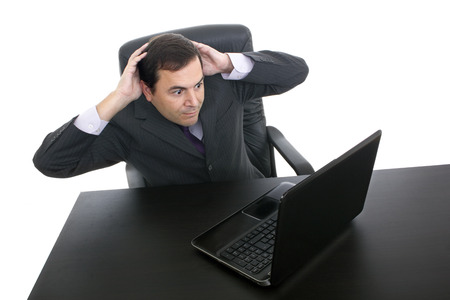 young business man working with is laptop Stock Photo