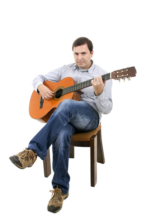 Acoustic guitar guitarist man classical photo