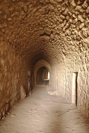 middle east war: Tunnel in Karak Castle