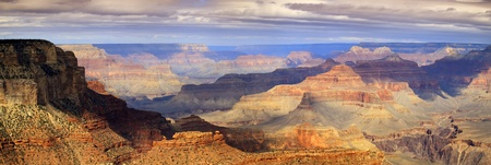 This XXL majestic scenic photo at the South Rim of the Grand Canyon captures the amazing layers of landscape and quality of light