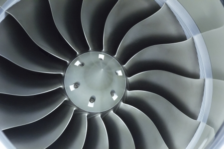 Close Up Image Of Business Aircraft Jet Engine Inlet