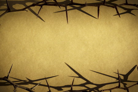 jesus christ crown of thorns: Crown Of Thorns Represents Jesus Crucifixion on Good Friday Stock Photo