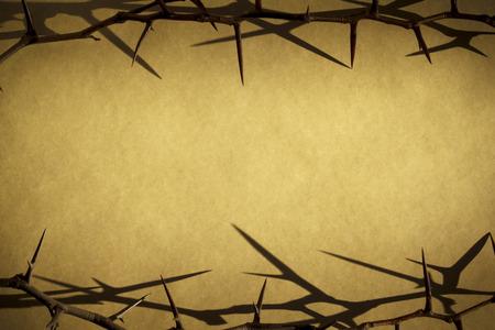 Kroon Van Doornen Vertegenwoordigt Jezus kruisiging op Goede Vrijdag Stockfoto