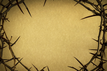 crucify: Crown Of Thorns Represents Jesus Crucifixion on Good Friday Stock Photo