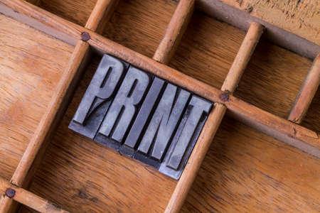 printery: Metal letterpress in an old typesetter -  Print