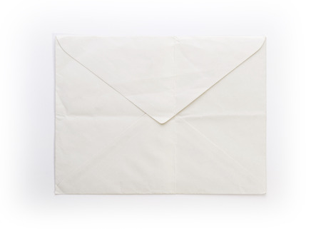 old envelope: Old, wrinkled and yellowed envelope