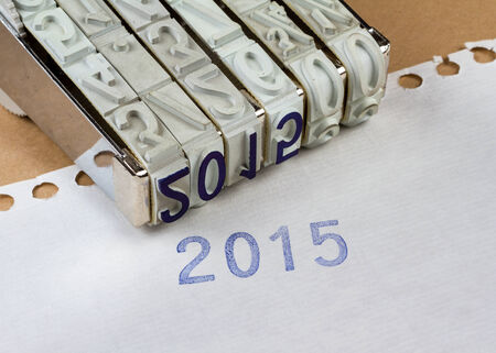 inkpad: 2015 printed with an inkpad on a white paper