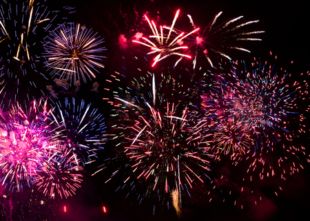 pyrotechnics: Pyrotechnics, firecrackers, firework display during the celebration of a great feast