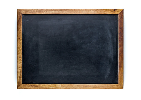 Blank blackboard, empty whiteboard
