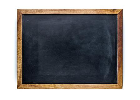 marco madera: Pizarra en blanco, pizarra vacía Foto de archivo