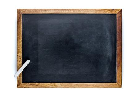 Blank blackboard with a white chalk