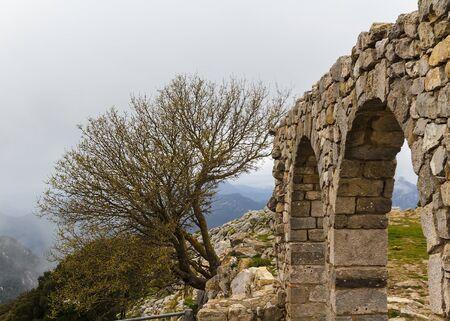 arcos de piedra: Arcos de piedra de un claustro en ruinas