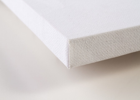 canvas art: Detail of a blank canvas Stock Photo