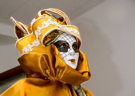festiveness: Carnival disguise with Venetian style mask Stock Photo