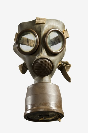 World War II Gas Mask isolated