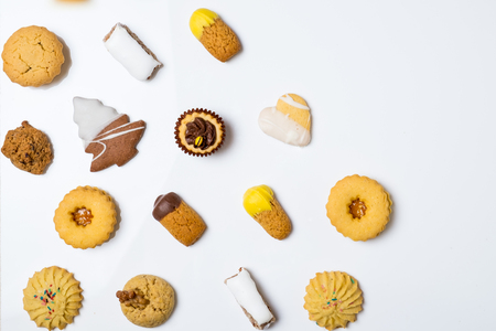 Cookies on white background