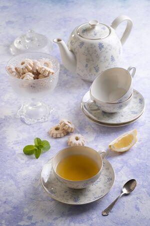 Table set for a tea service