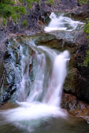 wide  wet: Waterfalls in the Italian Dolomites near Cortina