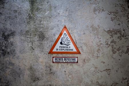 Danger explosive sign photo