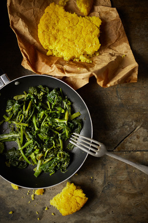 the greens: turnip greens recipe Stock Photo