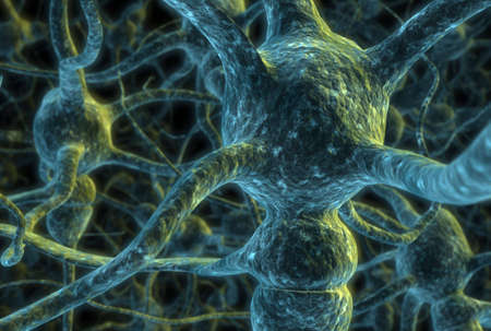 beings: 3d rendered illustration of a neuron cell network Stock Photo