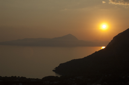 maratea: Sunset maratea Stock Photo