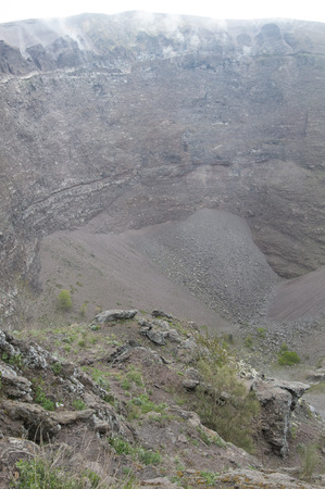 View of Vesuvio crater, Naples, Campania
