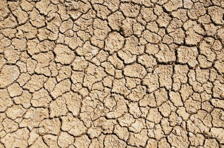 Land split for drought Banco de Imagens