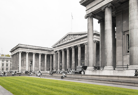 the main front of the British Museum