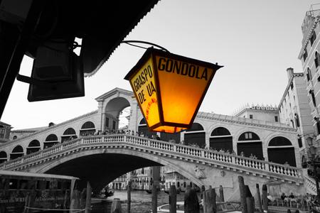 Gondola stand in Rialto