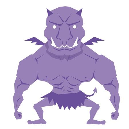Rainbow of Devils - Purple Devil Vector