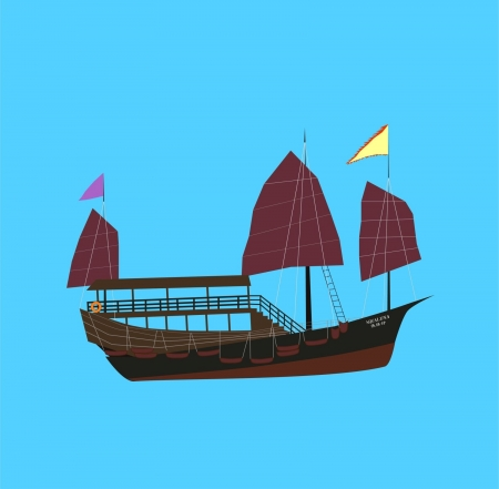 Vector illustration of Hong Kong Aqualuna