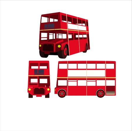 mini bus:  illustration - Bus of England Illustration