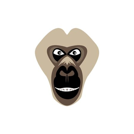 gorilla vector logo, on background white Logo