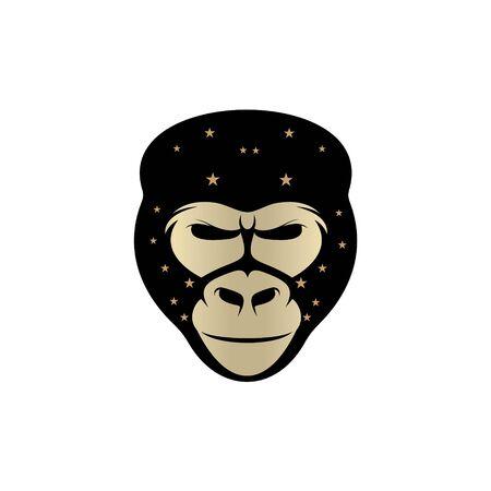 Gorilla head vector logo element
