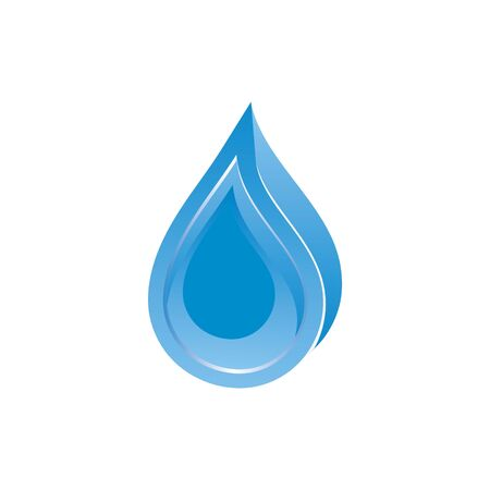 water blue vector icon  for company Ilustração