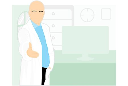 Healthcare medical team workers isolated on background