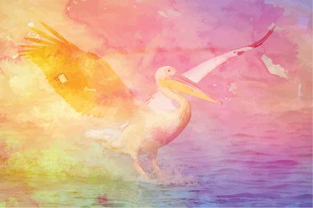 Pelican fly Banco de Imagens - 84628677