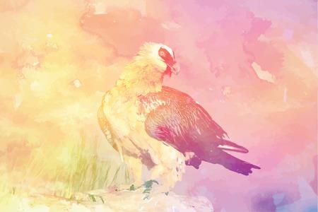 Eagle in multicolor backdrop Illustration