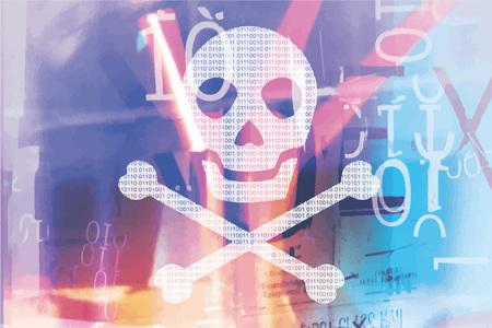 skull and crossed bones: Piracy skull Illustration