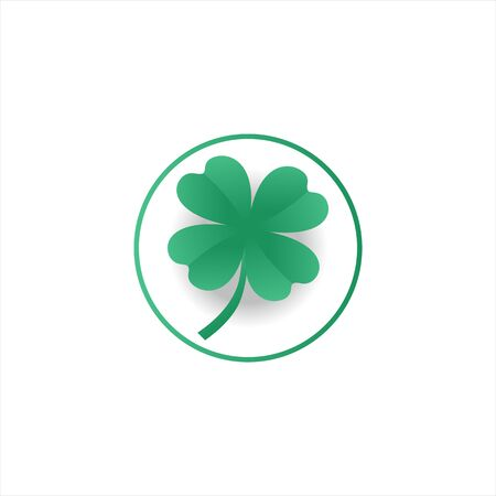 Green Shamrock leaf isolated on white background. You can shamrock leave use design your website, banner or mobile and Celebration Irish Holiday. Zdjęcie Seryjne - 143109282