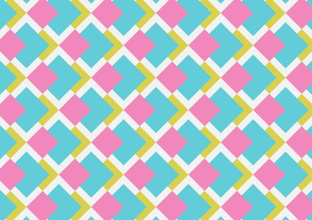 Abstract geo square pattern colorful background. Concept use square pattern design pink, blue, light-green and white background.