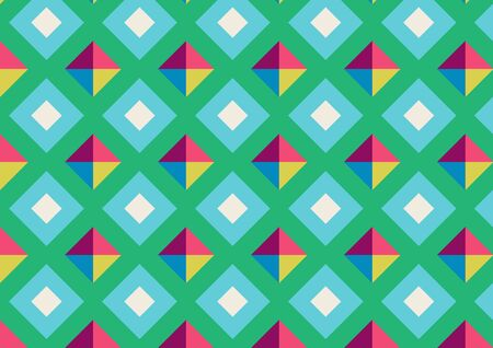 Abstract geo square pattern colorful background. Concept use square pattern design blue, yellow, pink, magenta and green background.