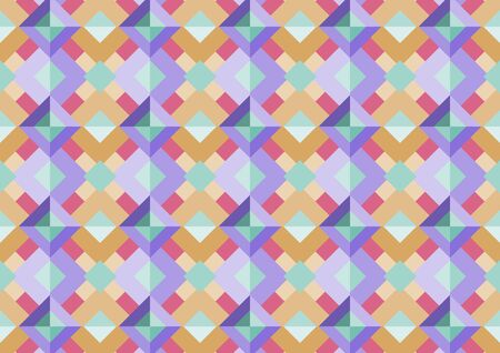 Abstract seamless geo square pattern colorful background. Concept use seamless square pattern design background.