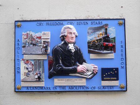 abolitionist: Thomas Clarkson plaque, Bristol, England