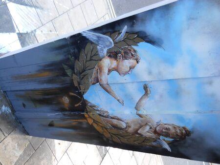 Mural in Nelson Street Bristol