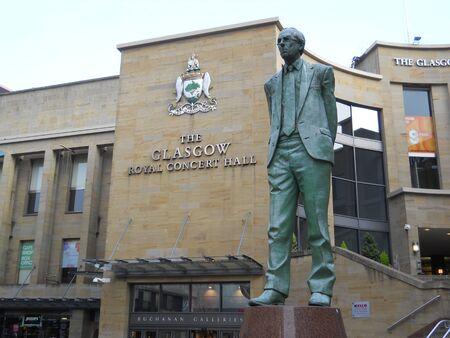 scottish parliament: Donald Dewar statue, Glasgow, Scotland Editorial